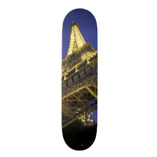 Europe, France, Paris, Eiffel Tower, evening 2 21.6 Cm Old School Skateboard Deck