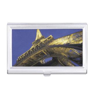 Europe, France, Paris, Eiffel Tower, evening 2 Business Card Holder