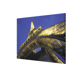 Europe, France, Paris, Eiffel Tower, evening 2 Gallery Wrap Canvas