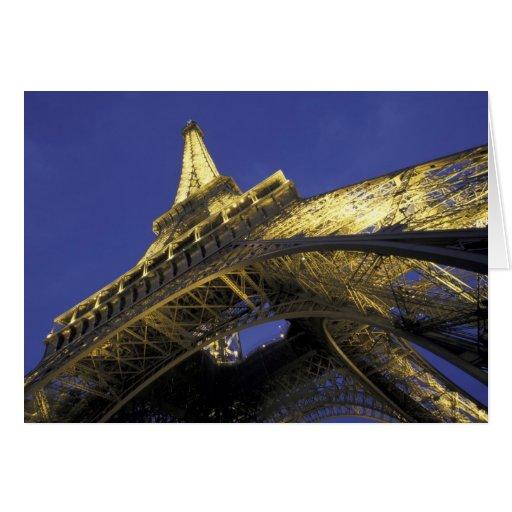 Europe, France, Paris, Eiffel Tower, evening 2 Greeting Card