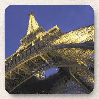 Europe, France, Paris, Eiffel Tower, evening 2 Beverage Coaster