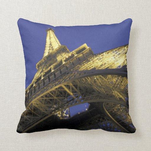 Europe, France, Paris, Eiffel Tower, evening 2 Pillow
