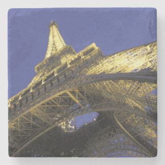 Europe France Paris Eiffel Tower evening 2 Stone Beverage Coaster