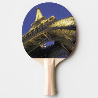 Europe, France, Paris, Eiffel Tower, evening 2 Ping Pong Paddle