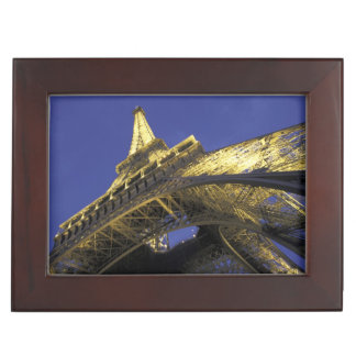 Europe, France, Paris, Eiffel Tower, evening 2 Keepsake Box