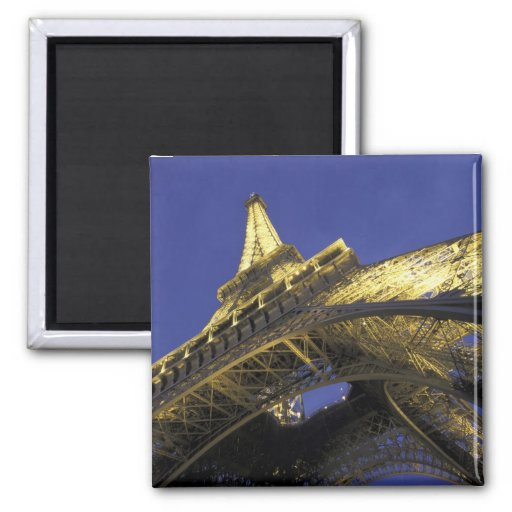 Europe, France, Paris, Eiffel Tower, evening 2 Fridge Magnet