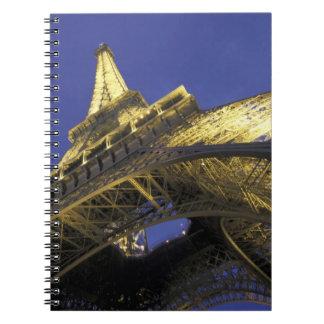 Europe, France, Paris, Eiffel Tower, evening 2 Spiral Note Books