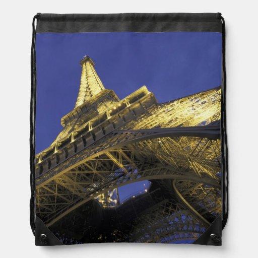 Europe, France, Paris, Eiffel Tower, evening 2 Drawstring Bag