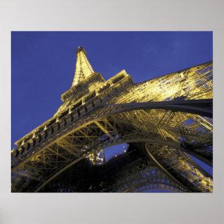 Europe, France, Paris, Eiffel Tower, evening 2 Poster