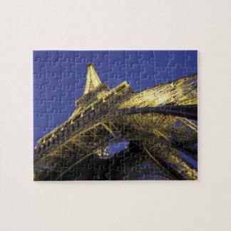 Europe, France, Paris, Eiffel Tower, evening 2 Puzzle