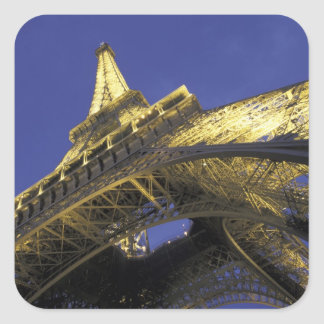 Europe, France, Paris, Eiffel Tower, evening 2 Square Sticker