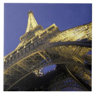 Europe, France, Paris, Eiffel Tower, evening 2 Large Square Tile