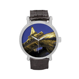 Europe, France, Paris, Eiffel Tower, evening 2 Wristwatches