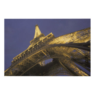 Europe, France, Paris, Eiffel Tower, evening 2 Wood Wall Art