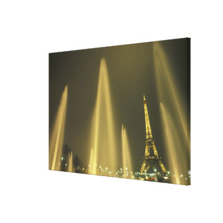 Europe, France, Paris, Eiffel Tower, evening Gallery Wrapped Canvas
