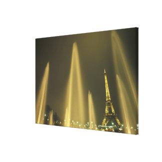 Europe, France, Paris, Eiffel Tower, evening Canvas Print
