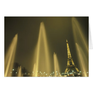 Europe, France, Paris, Eiffel Tower, evening Greeting Cards