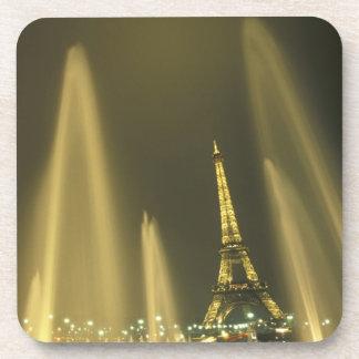 Europe, France, Paris, Eiffel Tower, evening Coasters