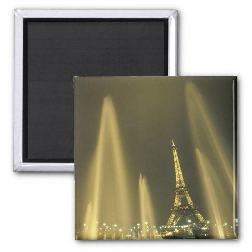 Europe, France, Paris, Eiffel Tower, evening Refrigerator Magnet
