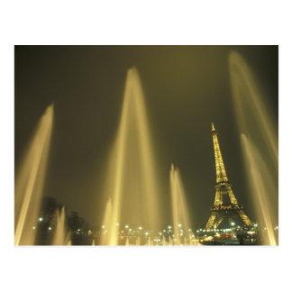 Europe, France, Paris, Eiffel Tower, evening Postcard