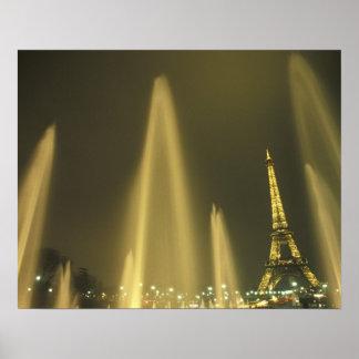 Europe, France, Paris, Eiffel Tower, evening Poster