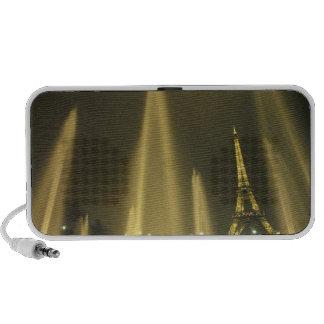 Europe, France, Paris, Eiffel Tower, evening Portable Speaker