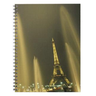 Europe, France, Paris, Eiffel Tower, evening Spiral Notebook
