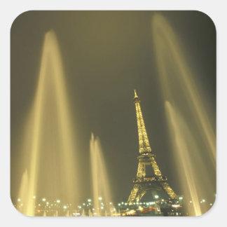 Europe, France, Paris, Eiffel Tower, evening Square Sticker