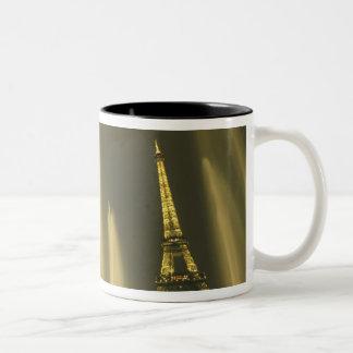 Europe, France, Paris, Eiffel Tower, evening Two-Tone Coffee Mug