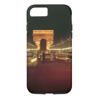 Europe, France, Paris. Evening traffic rushes iPhone 8/7 Case