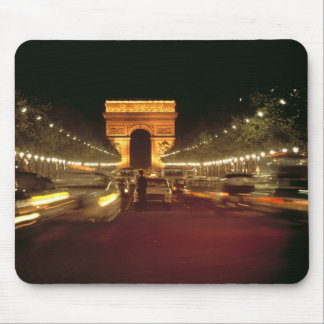 Europe, France, Paris. Evening traffic rushes Mouse Pad