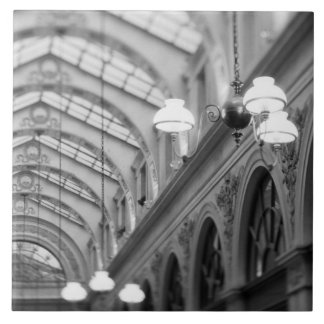 Europe, France, Paris. Interior, Galerie Large Square Tile