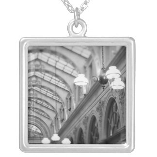 Europe, France, Paris. Interior, Galerie Silver Plated Necklace