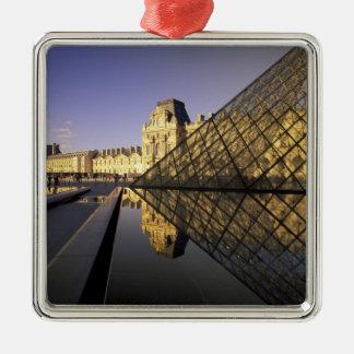Europe, France, Paris. Le Louvre and glass Christmas Ornament