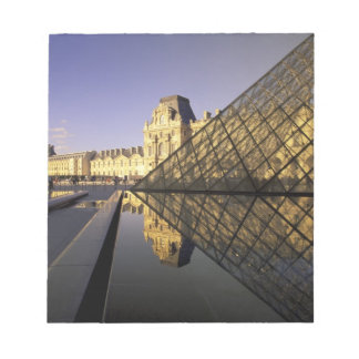 Europe, France, Paris. Le Louvre and glass Notepad