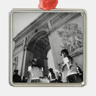 Europe France Paris Military ceremony at the Christmas Tree Ornament