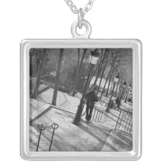 Europe, France, Paris, Montmartre: Morning on Silver Plated Necklace