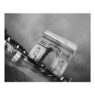 Europe, France, Paris. Spinning Arc de Triomphe Poster