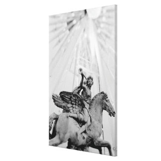 Europe, France, Paris. Statue and Ferris Wheel, 2 Gallery Wrap Canvas