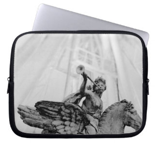 Europe, France, Paris. Statue and Ferris Wheel, 2 Laptop Sleeve
