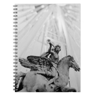 Europe, France, Paris. Statue and Ferris Wheel, 2 Spiral Notebook