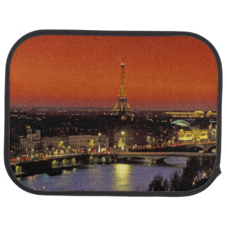 Europe, France, Paris. Sunset view of Eiffel Car Mat
