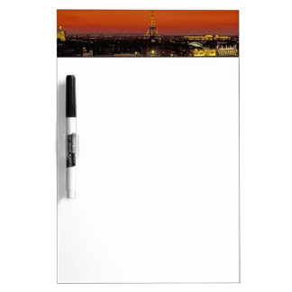Europe, France, Paris. Sunset view of Eiffel Dry-Erase Whiteboard