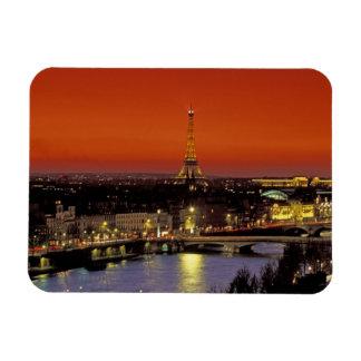 Europe, France, Paris. Sunset view of Eiffel Rectangular Magnets