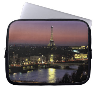 Europe, France, Paris, Sunset view of Eiffel Laptop Sleeve