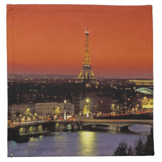 Europe, France, Paris. Sunset view of Eiffel Napkin