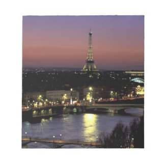 Europe, France, Paris, Sunset view of Eiffel Notepad