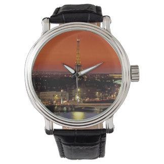 Europe, France, Paris. Sunset view of Eiffel Watch