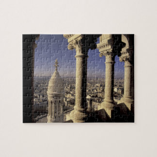Europe, France, Paris, View of Paris through Jigsaw Puzzle