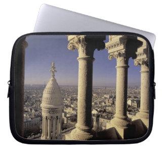 Europe, France, Paris, View of Paris through Laptop Sleeve